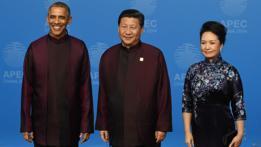 Xi Jinping, Peng Liyuan y Barack Obama