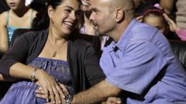 Adriana Pérez y su esposo Gerardo Hernández