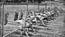 Soldados estadounidenses durante la Primera Guerra Mundial