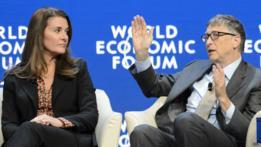 Bill (der.) y Melinda Gates