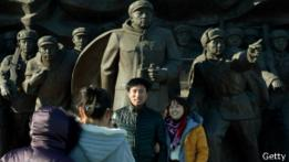 Turistas chinos en Corea del Norte