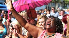 Manifestación por el tiroteo en Charleston.