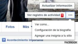 Captura de pantalla de Facebook