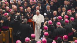 El papa Francisco en su reunión con los obispos en Estados Unidos