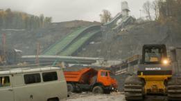 Construcción de carretera en Sochi