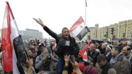 Manifestación de partidarios del presidente al Sisi