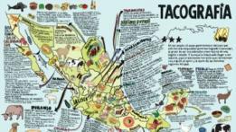 Geografía del taco publicada en La Tacopedia. Foto cortesía Trilce Ediciones