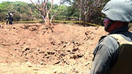 Cráter dejado por un meteorito en Nicaragua