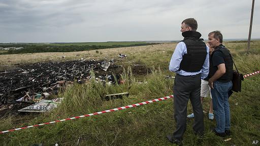 lugar de la caída del avión de Malaysia Airlines en el este de Ucrania