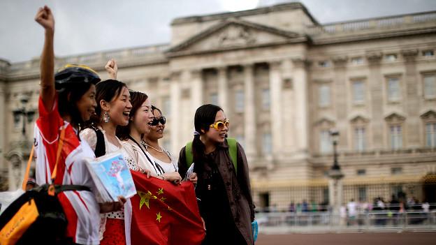 在英国的中国游客