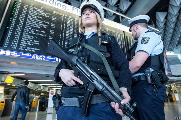 Полиция во Франкфурте