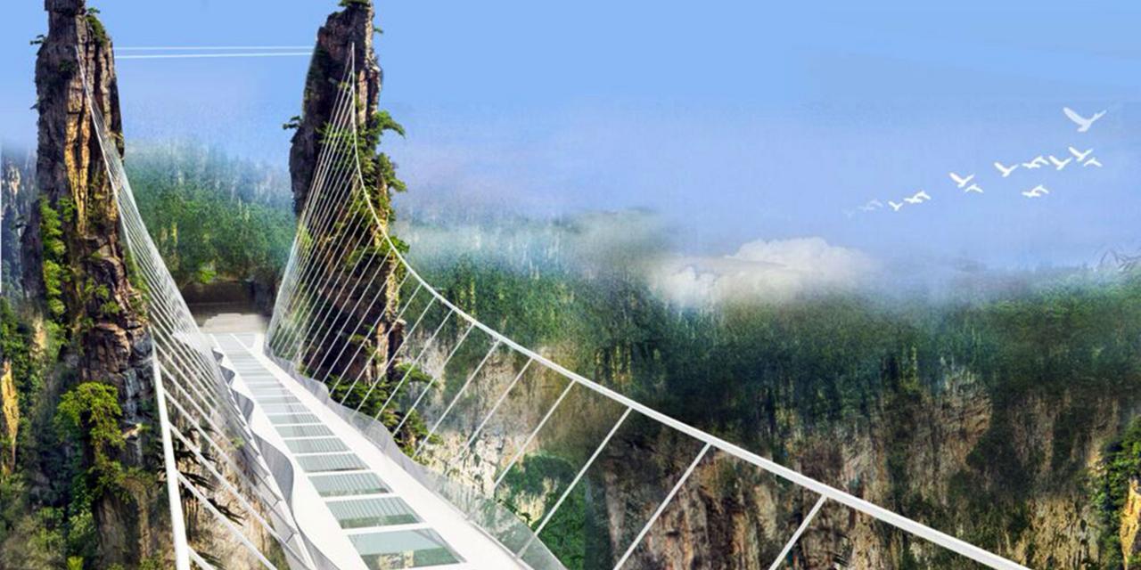 The world's longest (and highest) glass-bottomed bridge
