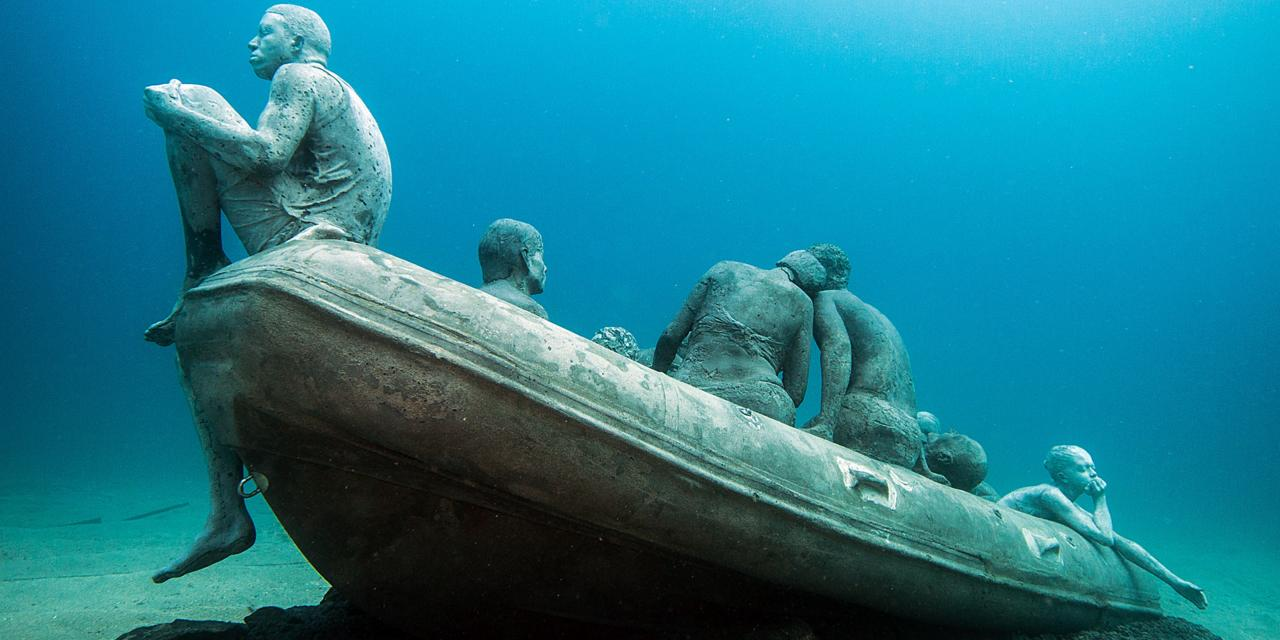 An eerie sight on the ocean floor