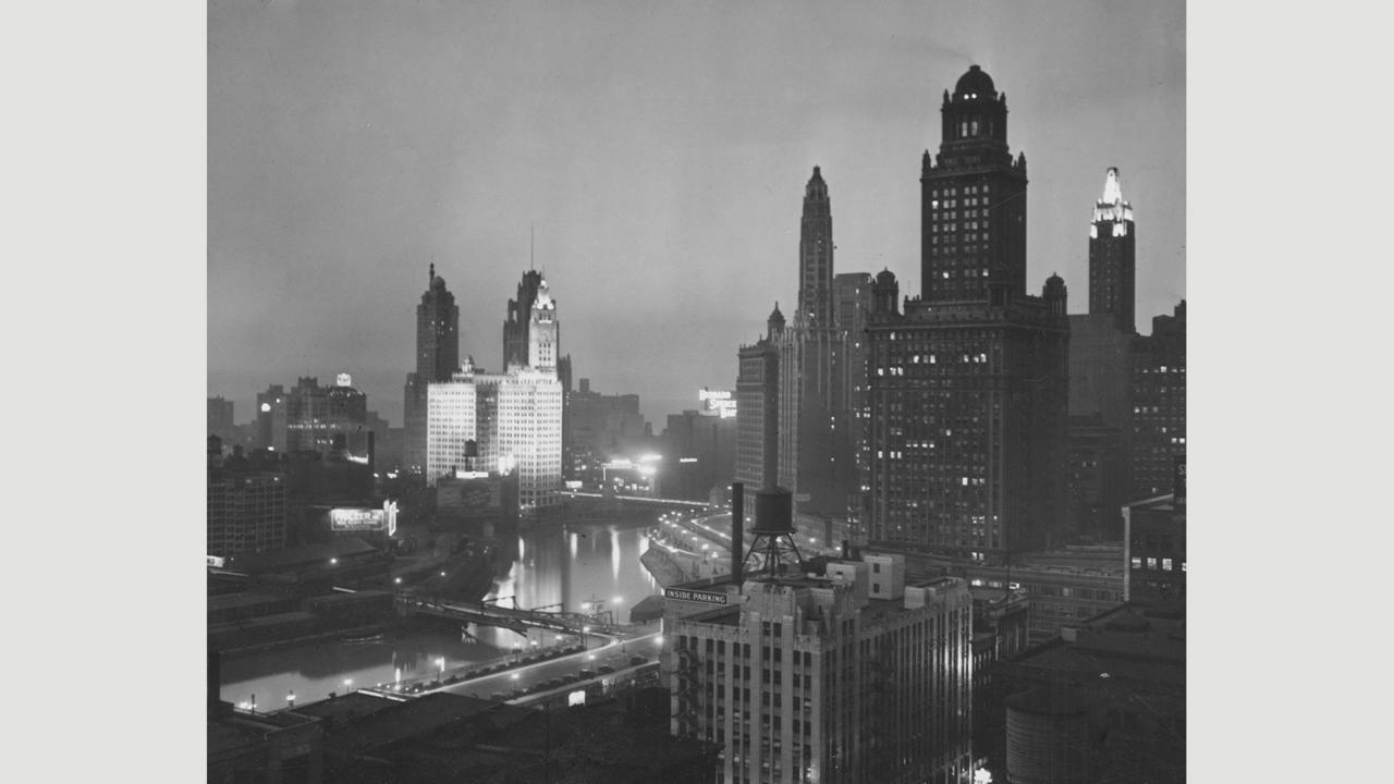 Chicago's impressive skyline in 1925 (Credit: Credit: Chicago History Museum/Alamy)