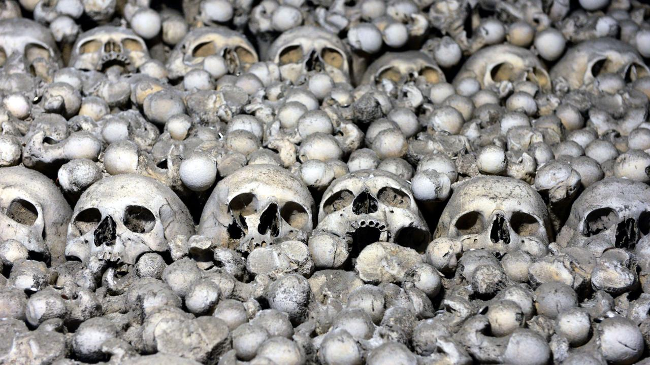 Frightening remains of the Black Death plague (Credit: Credit: Michal Cizek/Getty)