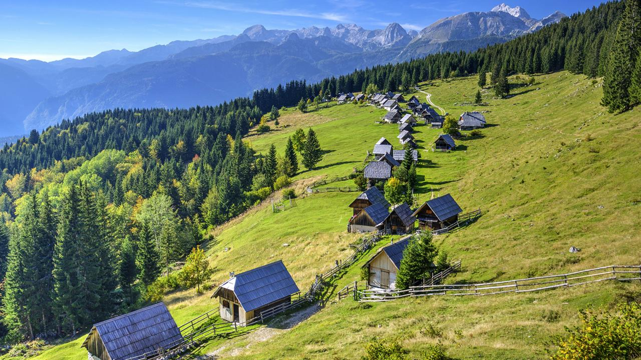 Wooden houses make Bohinj feel timeless (Credit: Credit: zkbld/Thinkstock)