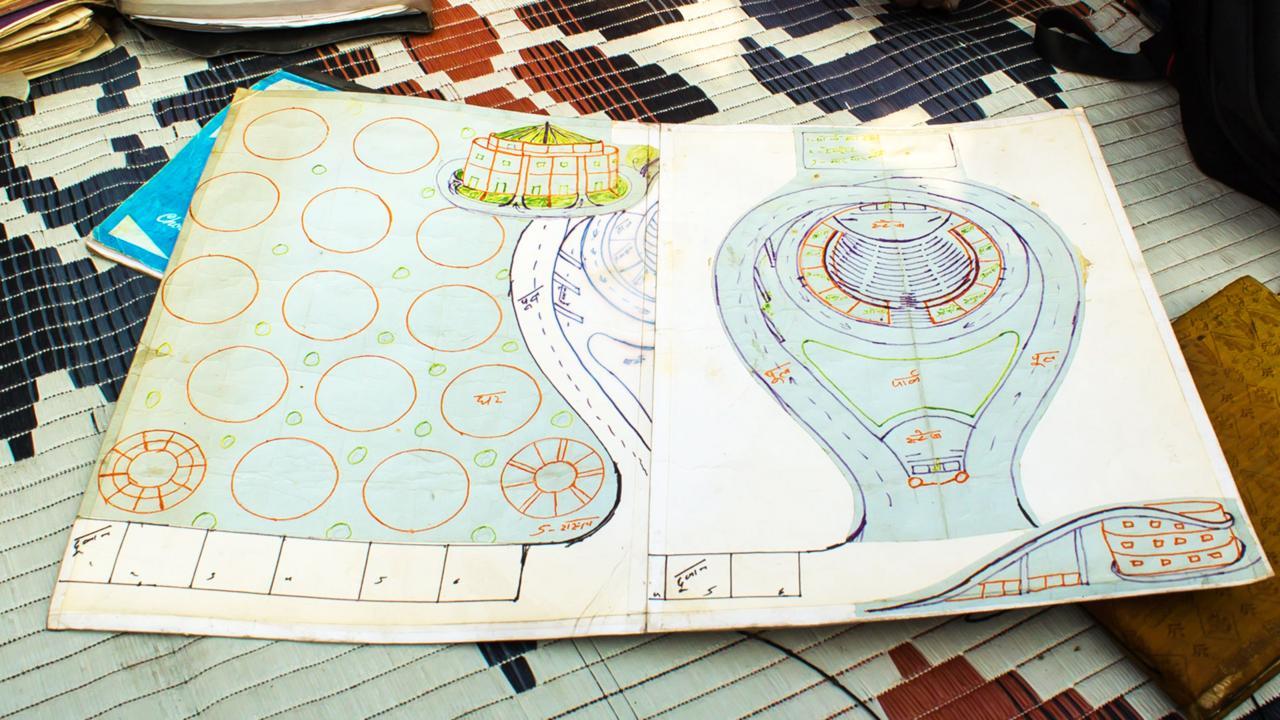 "Bhatt's plans for Kathputli's own version of ""Shakespeare's Globe"" (Credit: Credit: Mariellen Ward)"