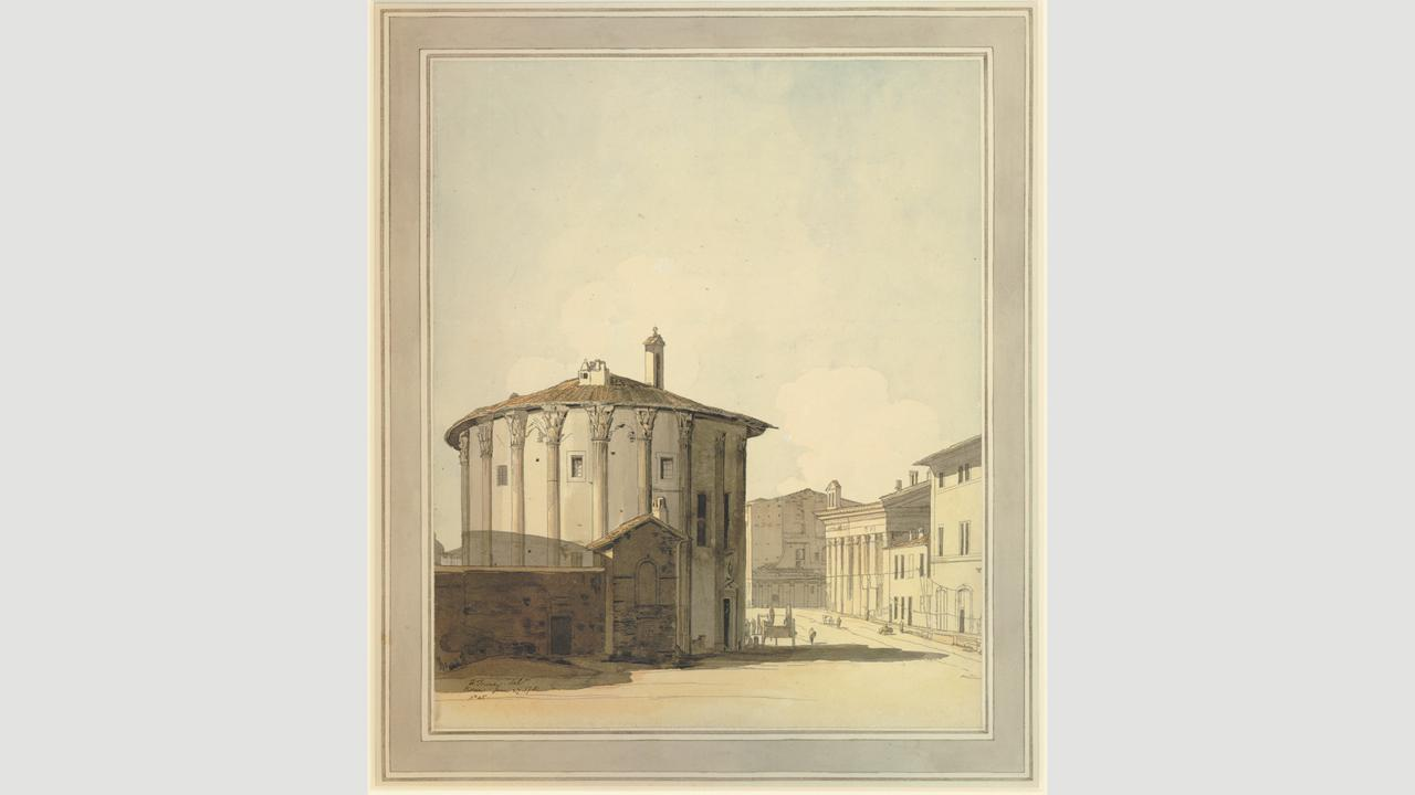 Towne's 1781 sketch of Rome's Temple of Vesta