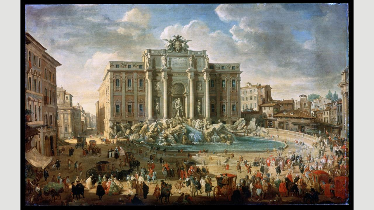 In his paintings, Giovanni Paolo Panini focused on the city's newer structures