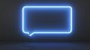 A neon speech bubble (Credit: Photo: Corbis)