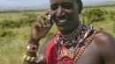 Massai tribesman talks on his cell phone in North Kenya, Africa (UIG/Getty) (Credit: UIG/Getty)