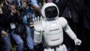 Honda's latest Asimo robot makes an appearance in New York. (Credit: Eric Thayer/Getty Images)