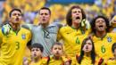 Brazil's team sing the National Anthem (Credit: Buda Mendes/Getty Images)