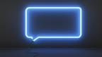 A neon speech bubble