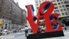 Robert Indiana sculpture in New York City