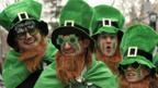 Enthusiastic crowds line the streets for the St Patrick's Day Parade in New York. (Getty)