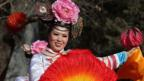 A traditional dancer celebrates Chinese Lunar New Year in Beijing. (Getty Images)