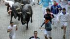 The annual Running of the Bulls festival in Pamplona. (Rafa Rivas/AFP/Getty Images)