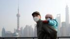 Smog masks are worn by all ages in Shanghai (ChinaFotoPress via Getty Images)