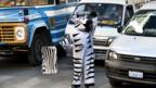 In Bolivia, traffic zebras enforce road rules. (Jenny Matthews/In Pictures/Corbis)