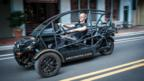 Arcimoto founder Mark Frohnmayer and his SRK prototype