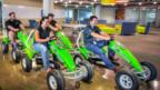 GoDaddy employees can let off steam at its own adult-sized pedal go-kart track. (GoDaddy)