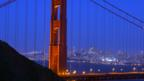 The Golden Gate bridge at night. (Scott Chernis/San Francisco Travel Association)