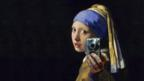 This mashup of Vermeer's Girl With A Pearl Earring by an anonymous artist went viral