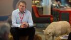 (Credit: BBC/Jack Barnes)  W1A's, Ian Fletcher, head of values (Hugh Bonneville)