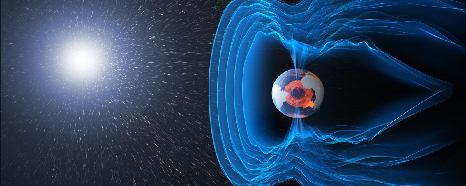 Visualization of Earth's magnetic field