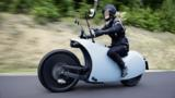 Outlandish and innovative, this electric motorcycle can cruise as far as a gasoline-powered bike.