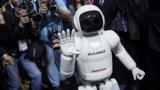 Low on product news, Honda turned to a familiar, if fabricated, face – that of its Asimo robot.