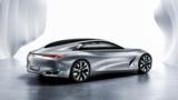 The Paris-bound Q80 Inspiration concept evokes the British sports car maker's Rapide four-door.