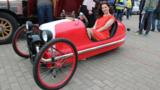 From Belarus, this $3000 3 Wheeler replica uses a different sort of V-twin engine – your legs.