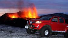 Hilux v the volcano. (Credit: Toyota)