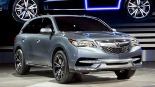 Acura MDX Prototype, shown on Tuesday in Detroit. (American Honda)