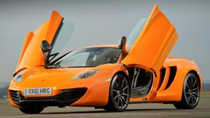 THE ALTERNATIVE: Scissor-doored British rocket, available right now. (McLaren Automotive)