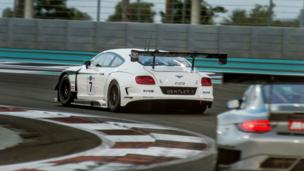 Bentley Continental GT3 in Abu Dhabi