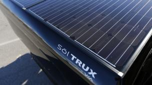 VIA Motors' SölTRUX solar pickup bed cover