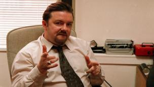 Ricky Gervais stars as inept middle-manager David Brent in The Office (BBC)